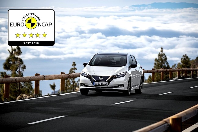 Nissan LEAF achieves 5-star safety rating in Euro NCAP ...
