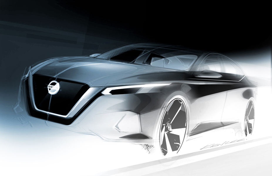 Official design sketch of the all-new Nissan Altima ...
