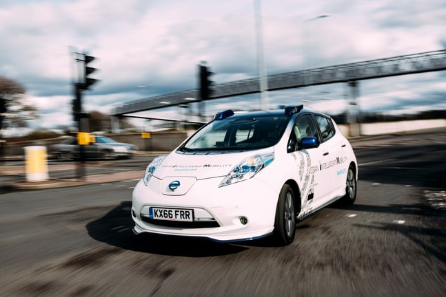 Nissan conducts on-road autonomous vehicle testing in ...