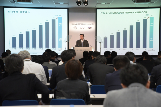 Nissan reports first-half results for fiscal year 2018