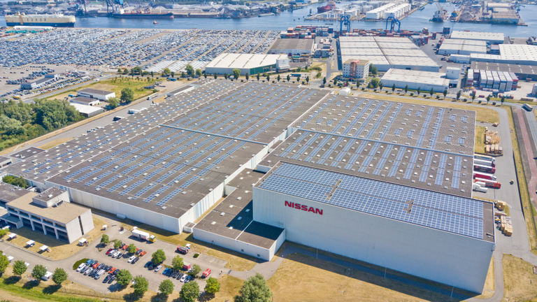 Nissan switches on largest collective solar roof in the